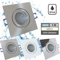 IP44 | SMD LED Einbauleuchten Marin | 5Watt | 230Volt | Quadratisch