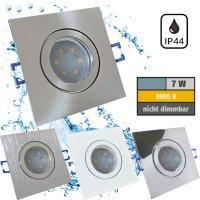 IP44 | SMD LED Einbauleuchten Marin | 7Watt | 230Volt | Quadratisch