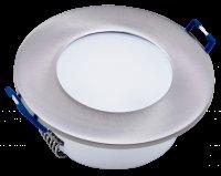 5W LED Einbauleuchte IP44 | 230V | 500Lumen | 85 x 30mm | Rund | Silber