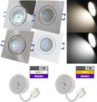 LED Einbaustrahler Marin / 230V / 7W / DIMMBAR / ET =...