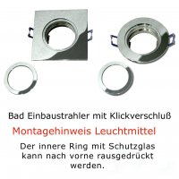 LED Einbaustrahler Marin / 230V / 7W / DIMMBAR / ET = 32mm / IP44