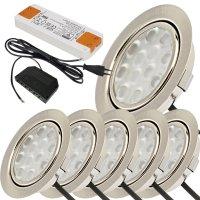 Flache LED Einbauspots Lina / 12Volt / 3W / Kabelbaum /...