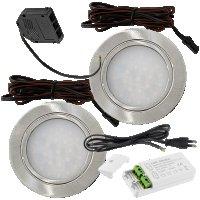 2 Stück - Flache LED Möbel Einbauleuchte Mila...