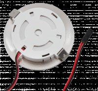 2 Stück Flache LED Möbel Einbaustrahler Mira - 12V - 2,4W - Loch 58 - 60mm - 230V Zuleitung mit Schnurschalter