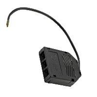 3 Stück Flache LED Möbel-Einbaustrahler Mila  12V - 2,4W - LED Trafo - 230V Zuleitung mit Schnurschalter