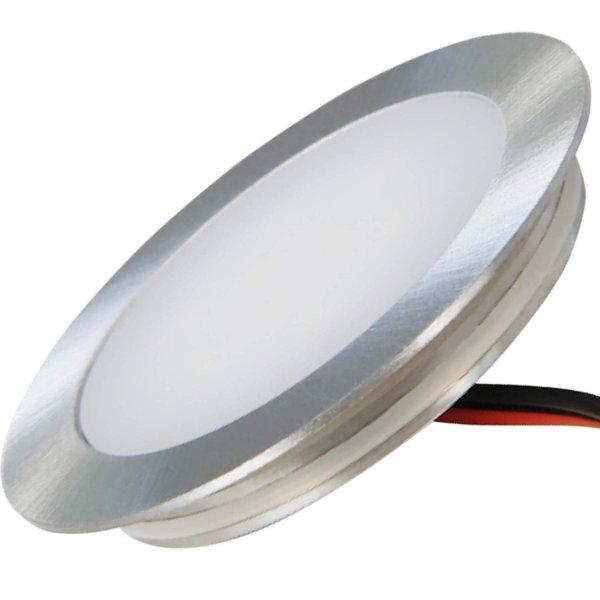 Flacher SMD LED Bodeneinbauspot 12V 0.5W für Korkböden, Laminat, Parkett, Fliesen usw. Begehbar - IP67