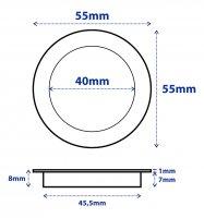 Flacher SMD LED Bodeneinbauspot 12V 0.5W für...