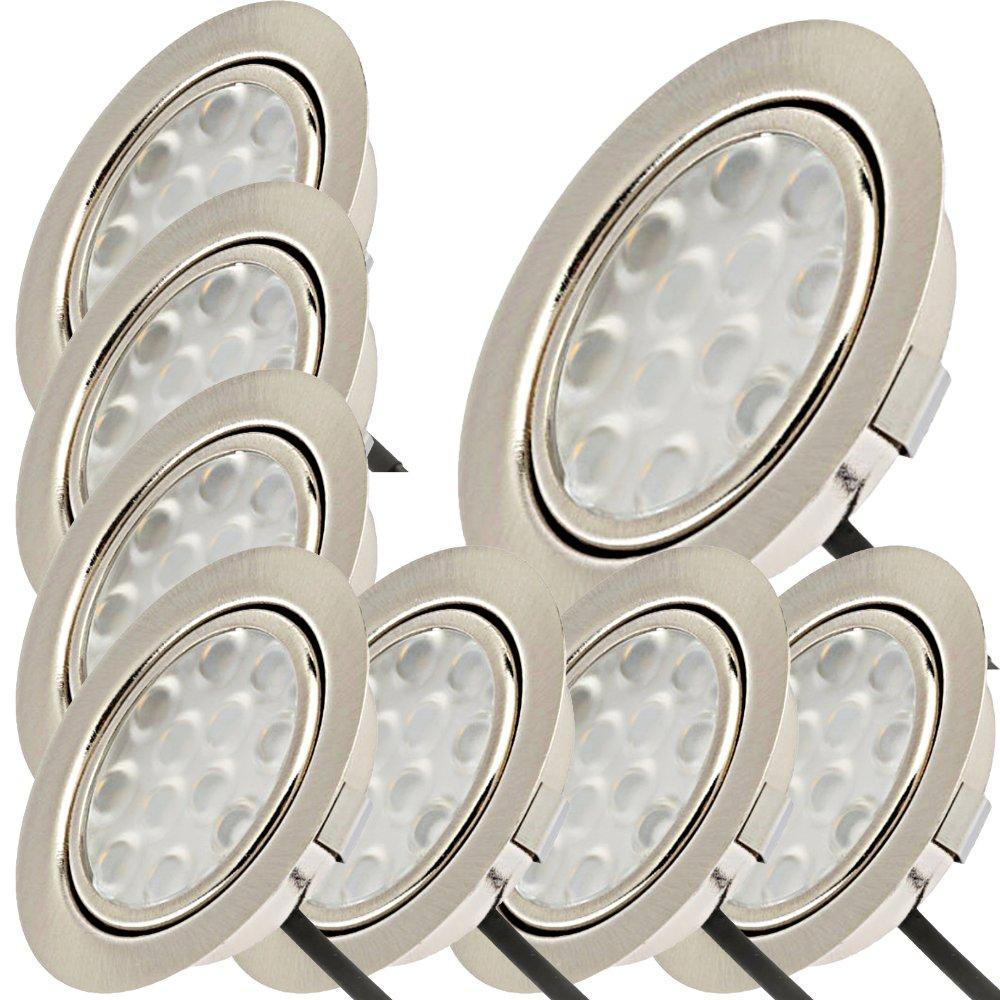 LED Einbaustrahler TOM 5W 230V flach Einbauspots Einbau-Leuchten Lampen