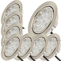 8er Set / Flache LED Einbauspots Lina / 12Volt / 3W /...