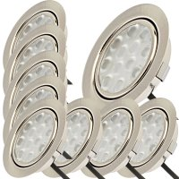 9er Set / Flache LED Einbauspots Lina / 12Volt / 3W /...