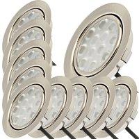 10er Set / Flache LED Einbauspots Lina / 12Volt / 3W /...