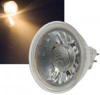 Reflektor COB LED Leuchtmittel 12Volt - 3Watt - WARMWEISS...