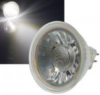 Reflektor COB LED Leuchtmittel 12Volt - 5Watt - NEUTRALWEISS - 420 Lumen - Sockel Gu5.3 - 36° Lichtkegel