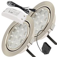 2er Set / Flache LED Einbauspots Lina / 12Volt / 3W / LED...