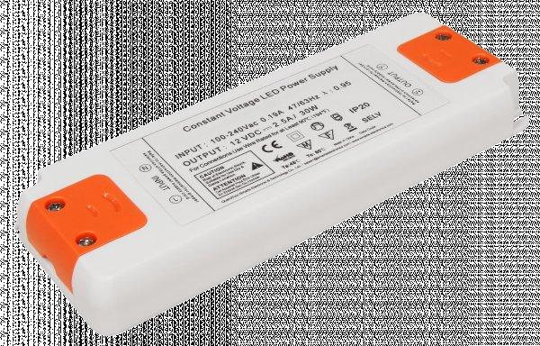 Elektronischer LED Trafo - 30Watt - für LED Lampen oder Stripes. Spannung stabilisiert 12VDC
