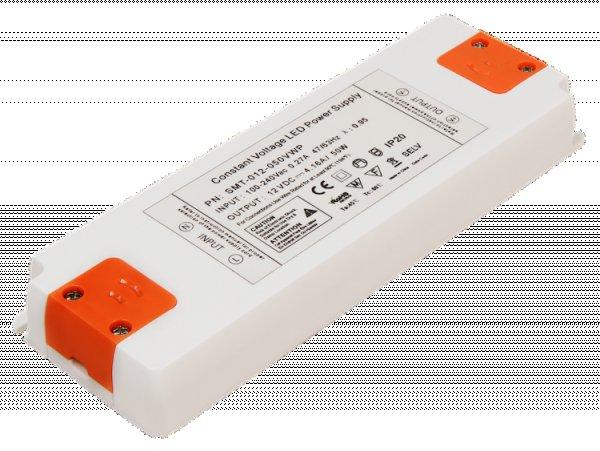 Elektronischer LED Trafo - 50Watt - für LED Lampen oder Stripes. Spannung stabilisiert 12VDC