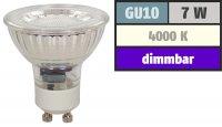 7Watt / LED Leuchtmittel Gu10 /  DIMMBAR / 4000k / 450lm...