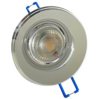 Runder Glas Einbaustrahler Laura | LED | 230Volt | 3Watt | Starr | Klarglas