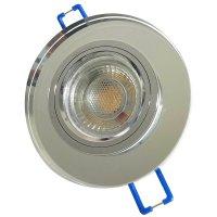 Runder Glas Einbaustrahler Laura   LED   230V   7Watt...
