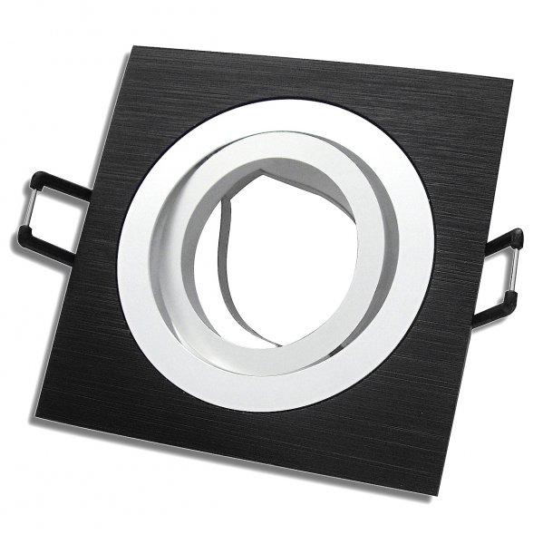 Aluminium Einbaurahmen / Schwarz / 230V / Fassung Gu10 / OHNE Leuchtmittel