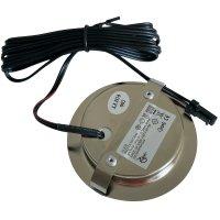 5er Set / Flache LED Einbauspots Lina / 12Volt / 3W / Kabelbaum / Stecker/ Verteilerleiste / LED Trafo /  230V Netzkabel für schaltbare Steckdosen