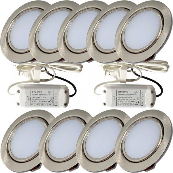 9er Set mit 2 x 15W LED Trafos
