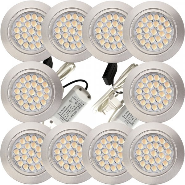 10er Set mit 2 x 15W LED Trafos